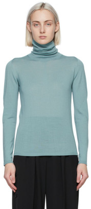 Max Mara Blue Wool Candore Turtleneck