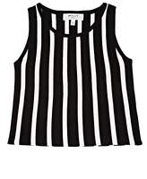 Milly Kids' Striped Compact Knit Sleeveless Top