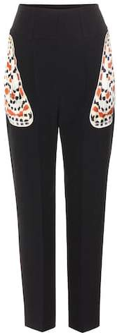 Givenchy Embellished crepe trousers