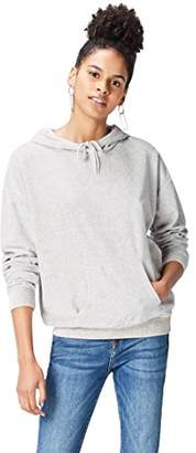 find. Women's Hoodie in Velour with Kangaroo Pouch Sweater
