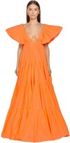 Valentino Ruffled Taffeta Long Dress