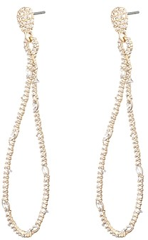 Alexis Bittar Woodland Fantasy Twisted Linear Pave Earrings