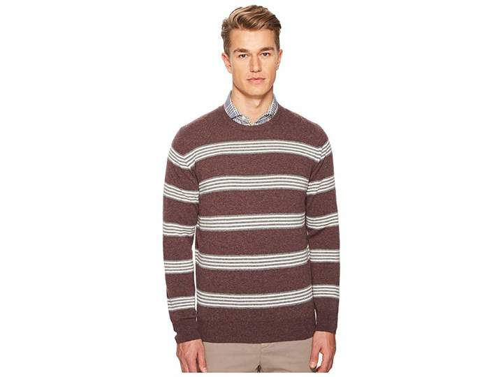 Eleventy Striped Cashmere Crew Neck Sweater Men's Sweater
