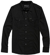 Ecko Unlimited Solid Military-Inspired Poplin Shirt