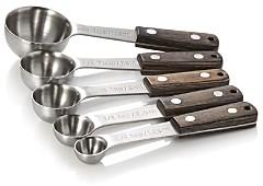 Schmidt Brothers Kitchen 5-Piece Ash Measuring Spoons - 100% Exclusive