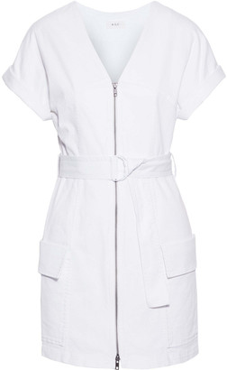 A.L.C. Bellamy Belted Stretch-cotton Twill Mini Dress