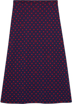 Gucci Double G polka dot skirt