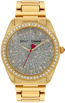 Betsey Johnson Women's Gold-Tone Bracelet Watch 40mm BJ00190-67