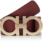 Salvatore Ferragamo Men's Leather Belt-RED