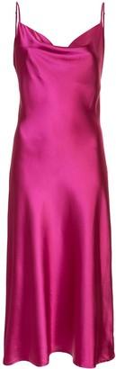 Apparis Maxine draped neck slip dress