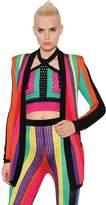 Balmain Colorful Striped Crochet Jacket