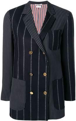 Thom Browne Shadow Stripe Flannel Sack Jacket