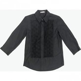 aganovich Black Cotton Top for Women