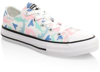 Converse Girl's Chuck Taylor All Star Ox Shark-Print Sneakers