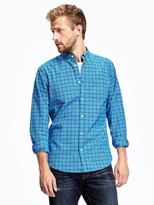 Old Navy Slim-Fit Plaid Oxford Stretch Shirt for Men