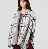 LOFT Plaid Cape Coat