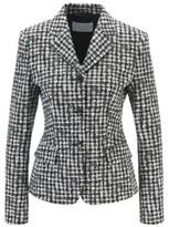 HUGO BOSS - Slim Fit Jacket In Irregular Check Italian Fabric - Patterned