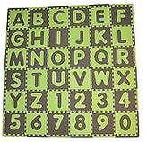 Tadpoles Tadpole Mat 36 Piece - ABC (Green/Brown)