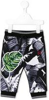 Dolce & Gabbana tropical print sweatpants - kids - Cotton - 6 mth
