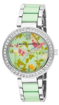 Laura Ashley Ladies' Blue Band Summer Duck Egg Dial Watch