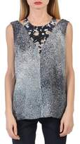 Kenzo Women's Grey Silk Tank Top.
