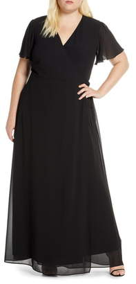 Show Me Your Mumu Noelle Wrap Style Evening Dress