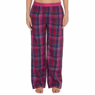 Forever Dreaming Womens Checked Lounge Trousers Perfect to Use As Pajamas Dark Pink S