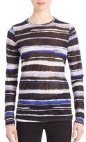 Proenza Schouler Long-Sleeve Printed Cotton Jersey Tissue Tee