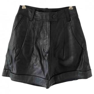 Paul & Joe Sister Blue Leather Shorts for Women