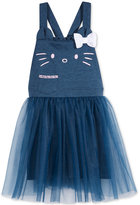 Hello Kitty Tulle Overall Dress, Toddler & Little Girls (2T-6X)