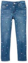 Levi's Toddler Girls) Star Blue Skinny Jeans