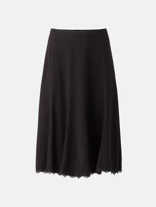 Diane von Furstenberg Laken Rayon Lace-Trimmed Skirt