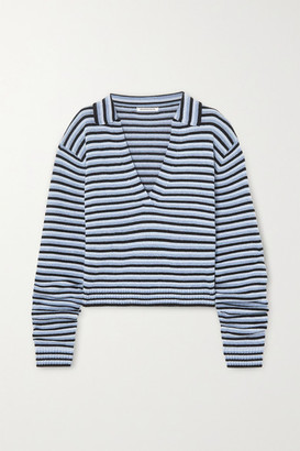 Georgia Alice Oversized Striped Knitted Sweater - Blue