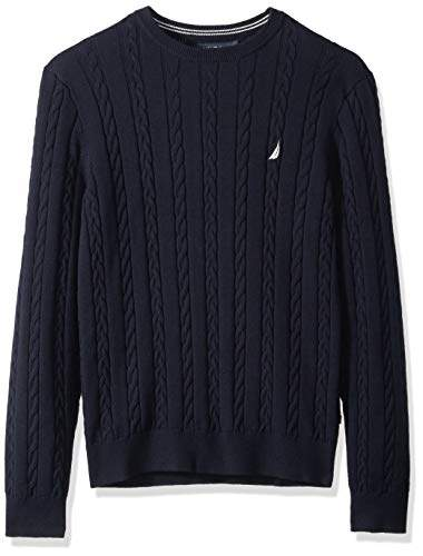 Nautica Men's Allover Multi-Cable Crewneck Sweater