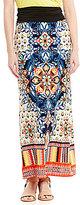 I.N. Studio Scratchy Medallion Print Pull-On Skirt