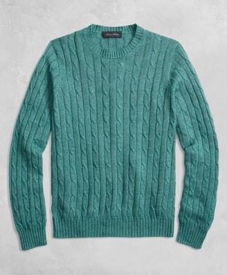 Brooks Brothers Golden Fleece 3-D Knit Cable Crewneck Sweater
