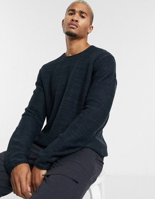 ONLY & SONS crew neck knitted jumper in navy