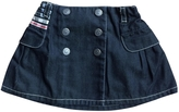 Burberry Navy Cotton Skirt