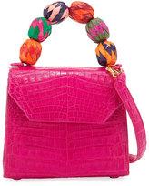 Nancy Gonzalez Small Beaded Top-Handle Crocodile Bag