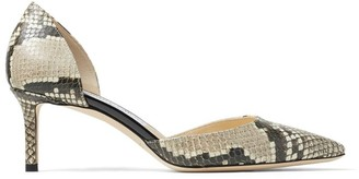 Jimmy Choo Esther 60 Snake Print Pumps