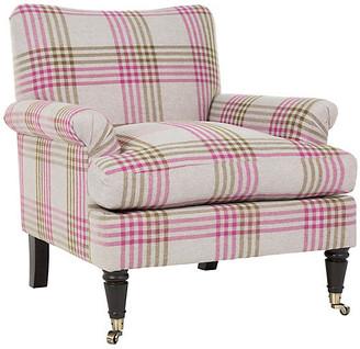 Kim Salmela Paige Chair - Olive/Plum Plaid