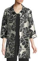 Caroline Rose Palm Paradise Jacquard Party Jacket