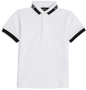 Emporio Armani Kids Contrast Collar Polo Shirt