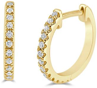 Sabrina Designs 14K 0.10 Ct. Tw. Diamond Huggie Earrings