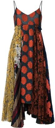 Biyan Printed Patchwork Dress
