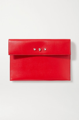 Alexander McQueen Embellished Textured-leather Pouch