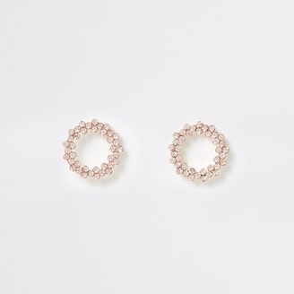 River Island Womens Rose Gold colour circle stud earrings