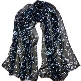 ABC Women's Scarf, Women Lady Musical Note Chiffon Neck Scarf Shawl Muffler Scarves