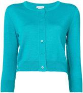 Oscar de la Renta cropped sleeve cardigan - women - Silk/Virgin Wool - L