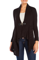 Cable & Gauge Draped Buckle Cardigan